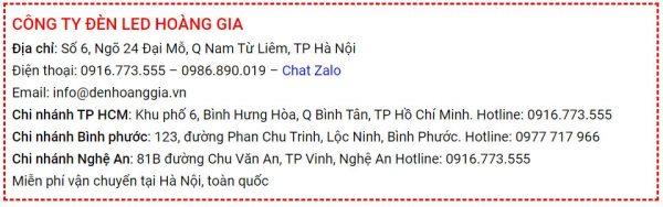 Địa chỉ bán đèn led tại Hà Nội chính hãng